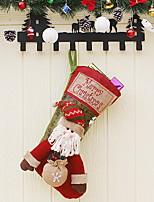 baratos -Meias Finas Férias Tecido Brinquedo dos desenhos animados / Novidades Decoração de Natal