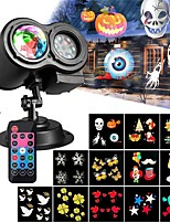 baratos -KWB 1pç 12 W Focos de LED Impermeável / Controlado remotamente / Regulável Multicolorido 100-240 V Iluminação Externa / Pátio / Jardim 12 Contas LED