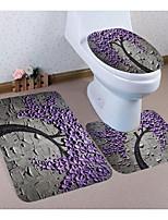 Недорогие -3 предмета Традиционный Коврики для ванны 100 г / м2 полиэфирный стреч-трикотаж Новинки Прямоугольная Ванная комната обожаемый