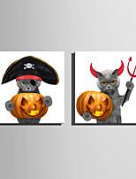 abordables -Imprimé Impression sur Toile - Animaux / Halloween Moderne