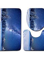 Недорогие -3 предмета Modern Коврики для ванны 100 г / м2 полиэфирный стреч-трикотаж Новинки нерегулярный / Прямоугольная Ванная комната Cool