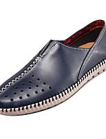 abordables -Homme Chaussures de confort Polyuréthane Eté Décontracté Mocassins et Chaussons+D6148 Ne glisse pas Gris / Marron / Bleu