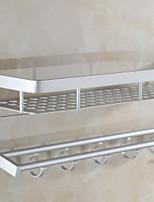 baratos -Prateleira de Banheiro Criativo Moderna Alumínio 1pç Solteiro (L150 cm x C200 cm) Montagem de Parede