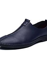 baratos -Homens Sapatos Confortáveis Couro Ecológico Verão Casual Mocassins e Slip-Ons Não escorregar Preto / Azul Escuro / Marron