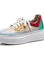 Недорогие -Жен. Комфортная обувь Наппа Leather Лето Кеды На плоской подошве Желтый