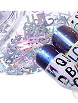 Недорогие -5 pcs Геометрические стразы Экологичные Креатив Буквы маникюр Маникюр педикюр Повседневные / фестиваль Мода