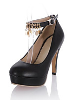 Недорогие -Жен. Комфортная обувь Полиуретан Весна Обувь на каблуках На шпильке Белый / Черный / Розовый
