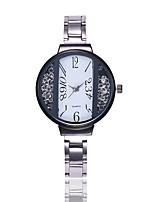 Недорогие -Жен. Нарядные часы Наручные часы Кварцевый Новый дизайн Повседневные часы Имитация Алмазный сплав Группа Аналоговый На каждый день минималист Черный / Серебристый металл / Золотистый -  / Один год