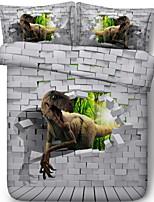 Недорогие -Пододеяльник наборы 3D Полиэстер Активный краситель 3 предмета