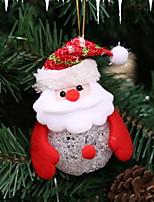 Недорогие -Рождество Праздник Ткань Круглый Оригинальные Рождественские украшения