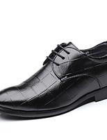 baratos -Homens Sapatos Confortáveis Couro Ecológico Outono Casual Oxfords Use prova Preto