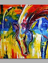abordables -Peinture à l'huile Hang-peint Peint à la main - Abstrait / Pop Art Classique / Moderne Toile