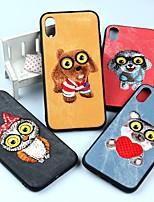 Недорогие -Кейс для Назначение Apple iPhone X / iPhone 6 Защита от удара / Защита от пыли / Защита от влаги Кейс на заднюю панель С собакой / Животное / Сова Мягкий ТПУ для iPhone X / iPhone 8 Pluss / iPhone 8