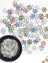 Недорогие -1 pcs Стразы для ногтей Многофункциональный Новогодняя тематика Снежинка маникюр Маникюр педикюр Рождество / Повседневные модный / Мода