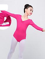 abordables -Danse classique justaucorps Fille Entraînement / Utilisation Elasthanne / Lycra Croisé Manches Longues Collant / Combinaison