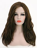 Недорогие -Парики из искусственных волос / Синтетические кружевные передние парики / Маскарадные парики Жен. Классика / Естественные прямые Черный Стрижка каскад / Боковая часть 130% Человека Плотность волос
