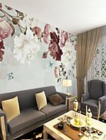 abordables -fond d'écran / Mural Toile Revêtement - adhésif requis Fleur / Décoration artistique / 3D