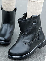 Недорогие -Девочки Обувь Искусственная кожа Весна Удобная обувь Ботинки для Дети Черный / Красный / Розовый