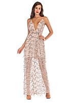 baratos -Mulheres Elegante Bainha Vestido Longo