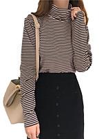 abordables -t-shirt pour femme - col rond rayé