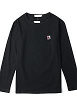 Недорогие -женская / мужская футболка - сплошной цветной шею
