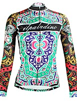 Недорогие -ILPALADINO Жен. Длинный рукав Велокофты - Зеленый Мода Велоспорт Верхняя часть Зима, Эластан