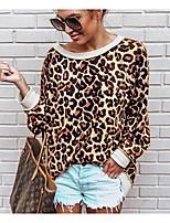 Недорогие -Жен. Футболка Классический Леопард