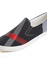 Недорогие -Муж. Вулканизованная обувь Полотно Наступила зима Классика Мокасины и Свитер Черный / Хаки