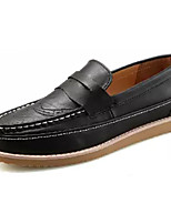 Недорогие -Муж. Комфортная обувь Полиуретан Осень На каждый день Мокасины и Свитер Нескользкий Черный / Желтый / Коричневый