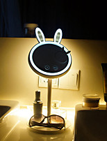 abordables -brelong lapin beauté maquillage miroir oculaire lampe de table 1 pc