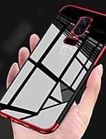abordables -Coque Pour OnePlus OnePlus 6 / OnePlus 5T Plaqué / Transparente Coque Couleur Pleine Flexible TPU pour OnePlus 6 / OnePlus 5T
