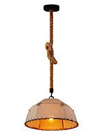 baratos -Industrial Luzes Pingente Luz Descendente Metal Tecido Proteção para os Olhos, Corda, Criativo 110-120V / 220-240V