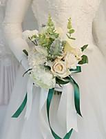 Недорогие -Свадебные цветы Букеты Свадьба / Свадебные прием Шелк / Ткань 11-20 cm