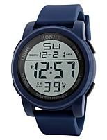 Недорогие -Муж. Спортивные часы Японский Цифровой 30 m Защита от влаги Календарь Секундомер PU Группа Цифровой Блестящие Мода Черный / Синий / Зеленый - Черный Зеленый Синий Два года Срок службы батареи