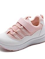 Недорогие -Девочки Обувь Полиуретан Наступила зима Удобная обувь Спортивная обувь На липучках для Дети / Для подростков Белый / Черный / Розовый