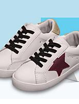 Недорогие -Девочки Обувь Синтетика Весна & осень Удобная обувь Кеды Шнуровка для Дети Белый