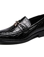 Недорогие -Муж. Официальная обувь Синтетика Весна & осень На каждый день / Английский Мокасины и Свитер Нескользкий Черный / Коричневый
