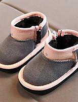 Недорогие -Мальчики / Девочки Обувь Искусственная кожа Весна Удобная обувь Ботинки для Дети (1-4 лет) Черный / Серый / Коричневый