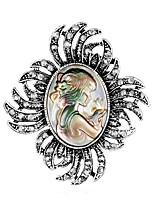 Недорогие -Жен. Классический Броши - Креатив Классика, Мода Брошь Серебряный Назначение Свадьба / Для вечеринок