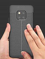 Недорогие -Кейс для Назначение Huawei Huawei Mate 20 Pro / Huawei Mate 20 Рельефный Кейс на заднюю панель Однотонный Мягкий Кожа PU для Mate 10 / Mate 10 pro / Mate 10 lite