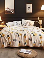 baratos -Super Suave, Estampa Pigmentada Flor Poliéster cobertores
