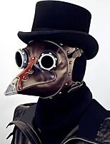 Недорогие -Доктор чумы Steampunk Костюм Все Маскарад Маски Темно-коричневый Винтаж Косплей Хром Искусственная кожа