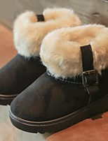 abordables -Fille Chaussures Faux Cuir Hiver Bottes de neige / Doublure en fourrure Bottes pour Enfants / Adolescent Violet / Marron / Rouge / Bottine / Demi Botte