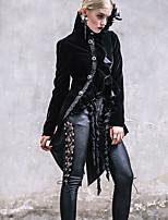 Недорогие -Steampunk Костюм Жен. Пальто Черный / Красно-черный Винтаж Косплей Полиэстер Длинный рукав