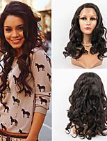 Недорогие -Натуральные волосы Лента спереди Парик Малазийские волосы Естественные кудри Парик 130% Плотность волос Жен. Длинные Парики из натуральных волос на кружевной основе