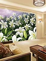baratos -papel de parede / Mural Tela de pintura Revestimento de paredes - adesivo necessário Floral / Padrão / 3D