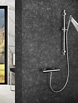 abordables -Robinet de douche / Robinet lavabo - Moderne Chrome Montage mural