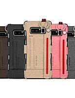 Недорогие -Кейс для Назначение SSamsung Galaxy Note 9 / Note 8 Бумажник для карт / Защита от удара Кейс на заднюю панель Однотонный Мягкий ТПУ для Note 9 / Note 8