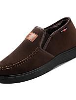 Недорогие -Муж. Комфортная обувь Полиуретан Зима Мокасины и Свитер Черный / Кофейный