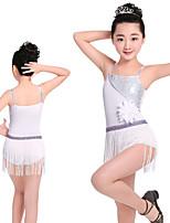 abordables -Danse latine Robes Fille Entraînement / Utilisation Elasthanne / Lycra Paillette Sans Manches Robe